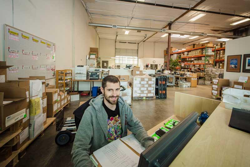mailing company production facility