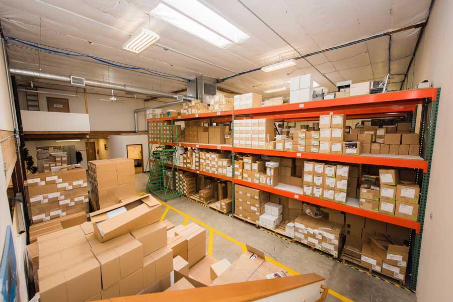 box room at mailing company