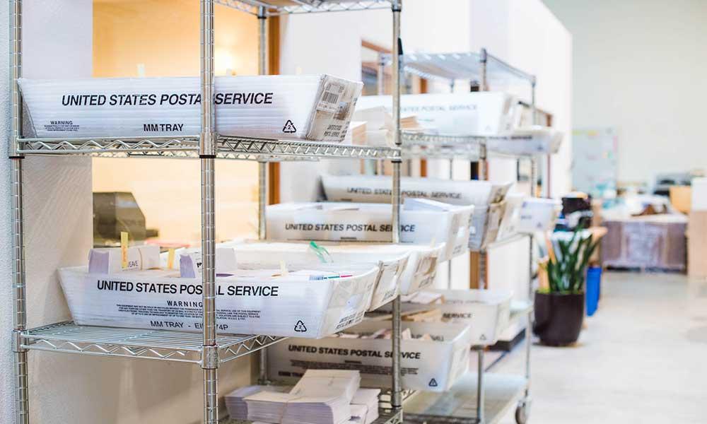 US Postal Service mailing bins